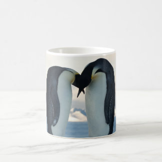 Emperor Penguin Courtship Basic White Mug