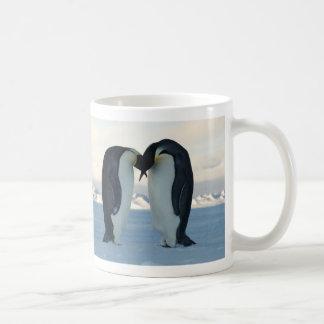 Emperor Penguin Courtship Basic White Mug