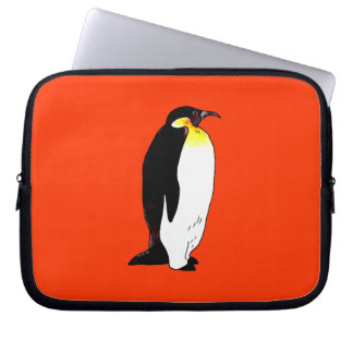 Emperor penguin laptop sleeve