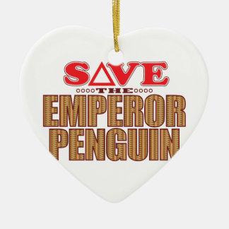 Emperor Penguin Save Christmas Ornament