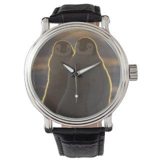 Emperor Penguins, Aptenodytes forsteri), 2 Wristwatches