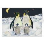 Emperor Penguins in Antarctica Greeting Card