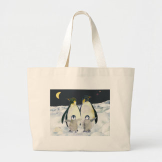 Emperor Penguins in the Antarctic Large Tote Bag