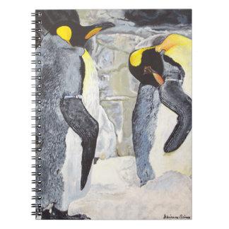 Emperor Penguins on Ice Spiral Notebooks