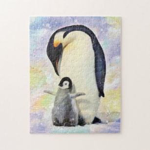 Jigsaw Puzzle King Penguin courtship