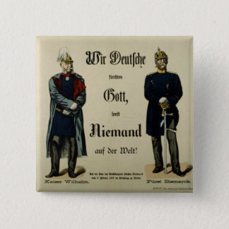 Emperor Wilhelm I and Prince Bismarck 15 Cm Square Badge