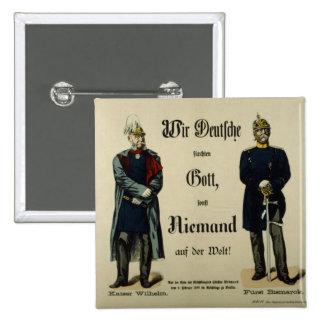 Emperor Wilhelm I and Prince Bismarck 15 Cm Square Badge