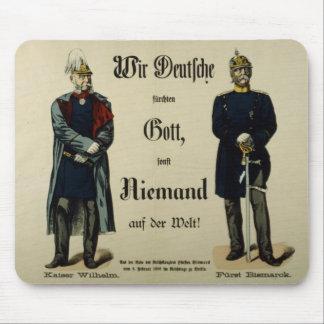 Emperor Wilhelm I and Prince Bismarck Mousepads