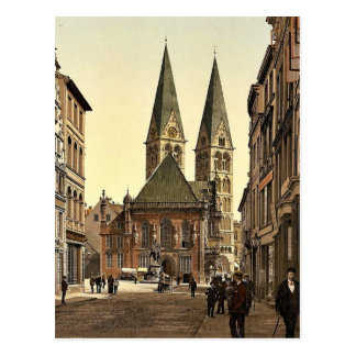 Emperor William's Place, Bremen, Germany classic P Postcard