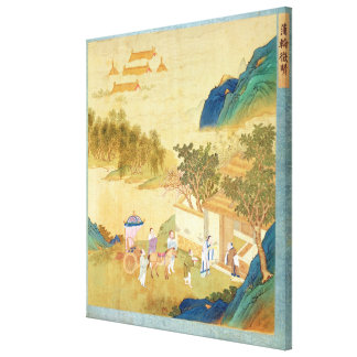 Emperor Wu Ti  welcoming a man of letters Canvas Print