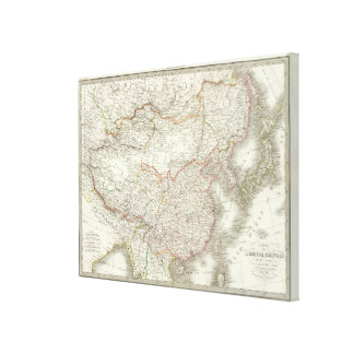 Empire Chinois Japon - Chinese Empire and Japan Stretched Canvas Print