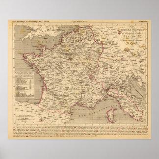 Empire Francais et Royaume d'Italie en 1809 Poster