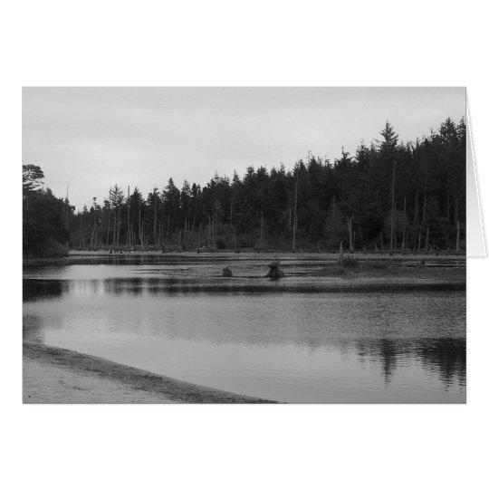 Empire Lake In Black & White Card