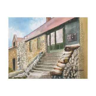 EMPIRE MINE, NEVADA CITY, CALIFORNIA,   WATERCOLOR CANVAS PRINT