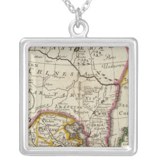 Empire of China, island of Japan Square Pendant Necklace