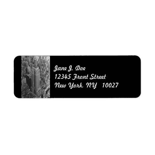 Empire State Bldg New York City NY Address Label