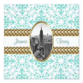 Empire State Building 01 B&W Wedding Invitation