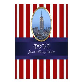 Empire State Building 02 Red White Str 111 RSVP 1 9 Cm X 13 Cm Invitation Card