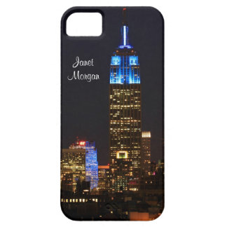 Empire State Building, 30 Rock in blue for Autism iPhone 5 Cases