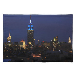 Empire State Building all in Blue, NYC Skyline Placemat