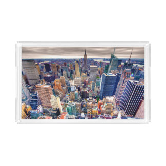 Empire State Building and Midtown Manhattan Acrylic Tray