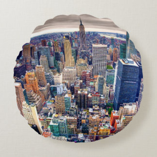 Empire State Building and Midtown Manhattan Round Cushion