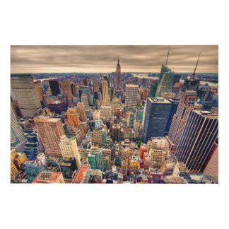 Empire State Building and Midtown Manhattan Wood Print