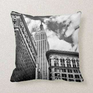 Empire State Building and Skyscrapers Cushion