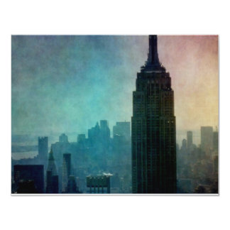 Empire State Building at colorful dusk Card