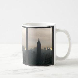 Empire State Building at dusk Basic White Mug
