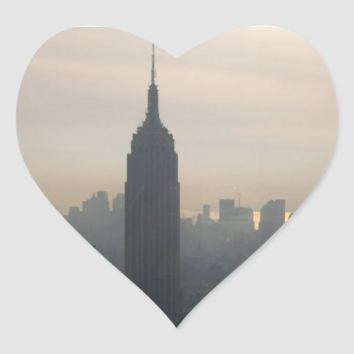 Empire State Building at dusk Sticker