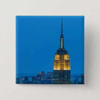 Empire State Building at Sunset 15 Cm Square Badge