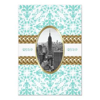 Empire State Building B&W 01 RSVP card 9 Cm X 13 Cm Invitation Card