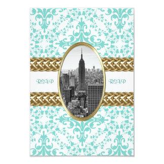 Empire State Building B&W Invitation 01 RSVP Card