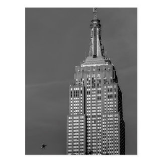 Empire State Building Black and White Photo Postcard