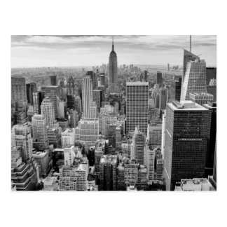 Empire State Building Black White New York City Postcard