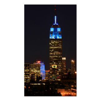 Empire State Building Blue for Autism 2012 Business Card Template