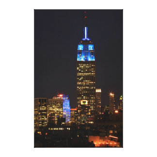 Empire State Building Blue for Autism 2012 Gallery Wrapped Canvas