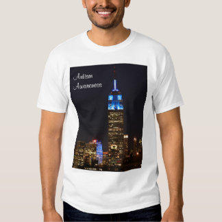 Empire State Building Blue for Autism 2012 T Shirts