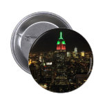 Empire State Building Christmas Colours at night 0 Pinback Button