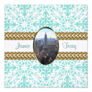 Empire State Building Damask Wedding Invite #01