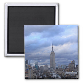 Empire State Building Dramatic Clouds Refrigerator Magnet