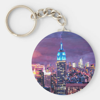 Empire State Building Feeling Like A Blue Giant Keychains