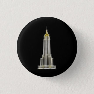 Empire State Building in New York 3 Cm Round Badge