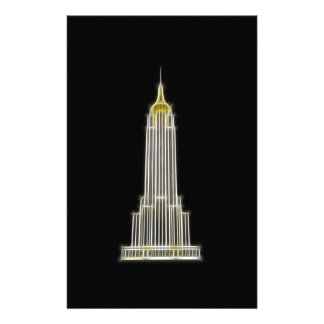 Empire State Building in New York Stationery Paper