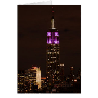 Empire State Building in Purple & White 01 Greeting Card