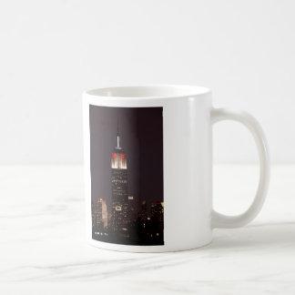 Empire State Building in Red & White, 30 Rock Basic White Mug