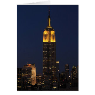 Empire State Building in Yellow 01 Card