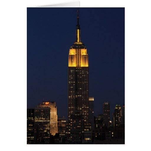 Empire State Building in Yellow 01 Cards
