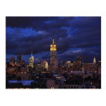 Empire State Building in Yellow, Twilight Sky 02